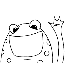 Friendly Frog Cling Mount Stamp - ICL3-102