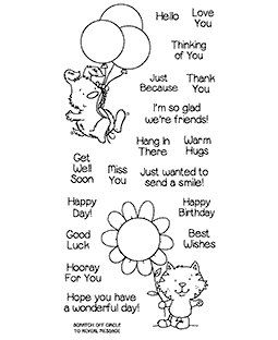 Nicola Storr Furry Friendship Clear Stamp Set - 11333LC