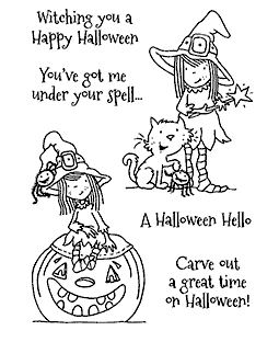 Nicola Storr Halloween Hazel Clear Stamp Set - 11315MC