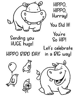 Happy Hippos Clear Stamp Set - 11434MC