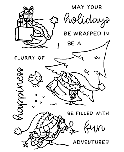 Happy Holiday Penguins Clear Stamp Set: 11417MC