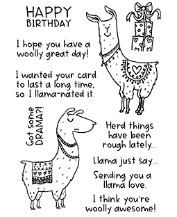 Lovely Llamas Clear Stamp Set 11432MC
