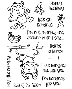 Merry Monkeys Clear Stamp Set - 11433MC