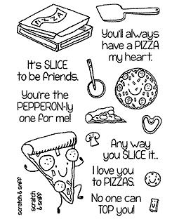 Pizza Clear Stamp Set - 11364MC