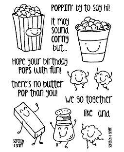 Popcorn Clear Stamp Set - 11365MC
