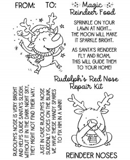 Rudolph and Reindeer Treats Clear Stamp Set: 11481MC