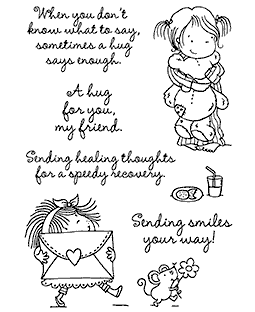 Nicola Storr Sending Hugs Clear Stamp Set - 11325MC