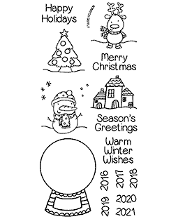 Nicola Storr Snow Globe Clear Stamp Set - 11352LC