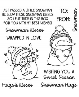 Snowman Hugs and Kisses Clear Stamp Set - 11477SC