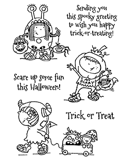 Nicola Storr Spooky Characters Clear Stamp Set - 11317MC