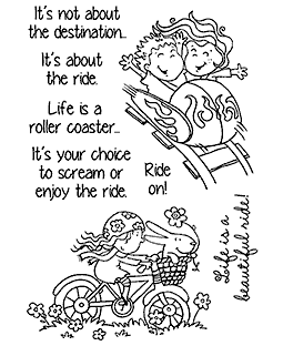 Nicola Storr Taking A Ride Clear Stamp Set - 11327MC