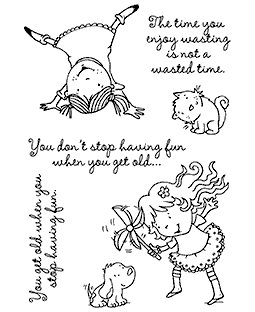 Nicola Storr Twirling Around Clear Stamp Set - 11326MC