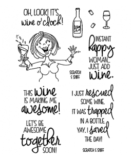 Wine Time #1 Clear Stamp Set - 11373MC