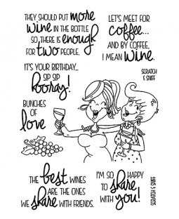 Wine Time #2 Clear Stamp Set - 11374MC