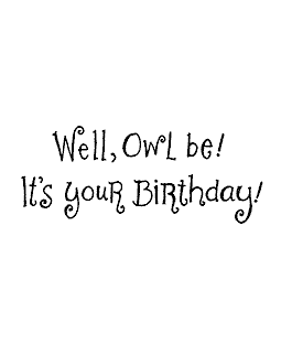 Owl Be Birthday Wood Mount Stamp E2-1571E