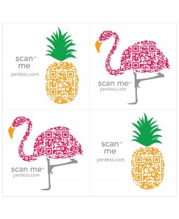 Penless Sticker Pack: Flamingo / Pineapple PEN030
