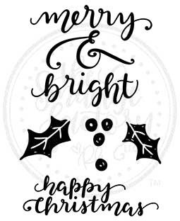 Merry & Bright Clear Stamp Set - 11391MC