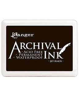 Archival Ink #3 Jumbo Pad: Jet Black A3P06701