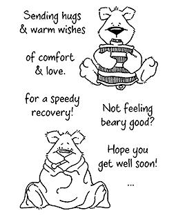 Recovering Benton Bear Clear Stamp Set 11084MC