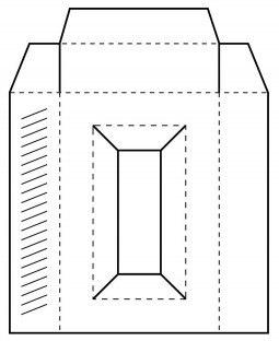 Rectangle Box Template Cling Mount Stamp AGC4-2873