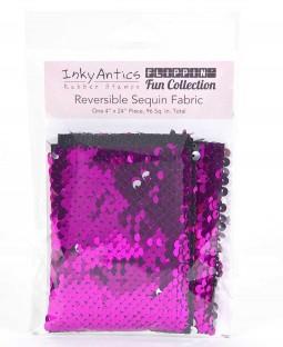 Reversible Sequin Fabric: Fuchsia to Silver SQFU2SL