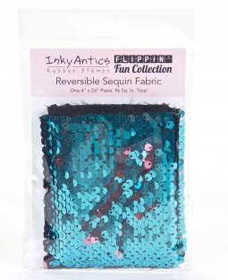 Reversible Sequin Fabric: Turquoise to Rose Gold - SQTU2RG