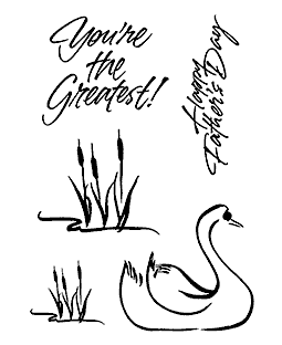 Brushed Swan Clear Stamp Set 11245MC