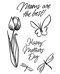 Rob Lueschke Brushed Tulip Clear Stamp Set 11241MC