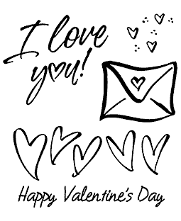 Rob Leuschke Hearts Valentine Clear Stamp Set 11020SC