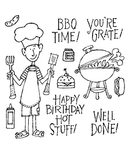 BBQ Time Clear Stamp Set 10973SC