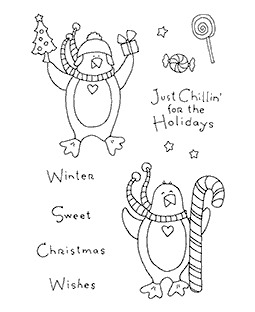 Christmas Penguins Clear Stamp Set 11005MC