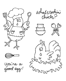 Cooking Chicks Clear Stamp Set 11289SC