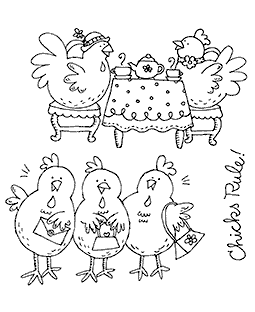 Girlfriend Chicks Clear Stamp Set 11290SC