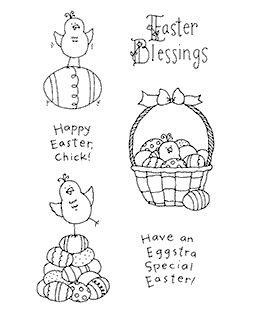 Little Easter Chicks Clear Stamp Set 10955MC
