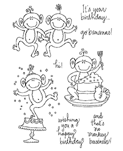Monkeys Celebration Clear Stamp Set 10930MC