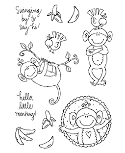 Monkeys Hanging Around Clear Stamp Set 10931MC