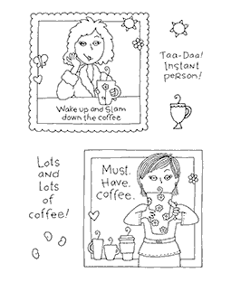 My Friend Ronnie Coffee #1 Clear Stamp Set 10924MC