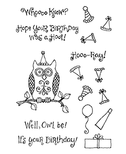 Owl Birthday Clear Stamp Set 10966MC