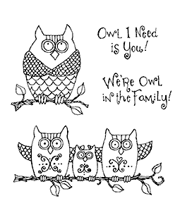 Owl Family Clear Stamp Set 10974SC