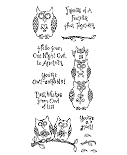 Ronnie Walter Owl Friends Clear Stamp Set 10960LC
