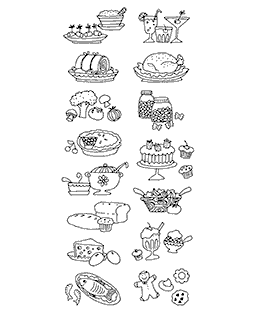 Recipe Icons Clear Stamp Set 10962LC