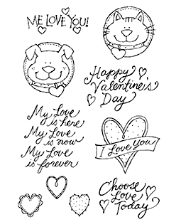 Valentine Critters #1 Clear Stamp Set 10949MC