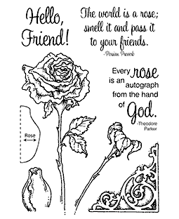 Rose Clear Stamp Set 11108MC