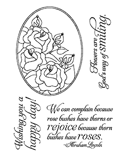 Rose Oval Clear Stamp Set 11098MC