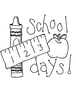 School Days Wood Mount Stamp K1-65103J