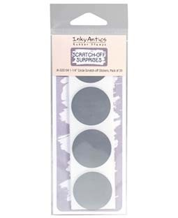 "1 1/4"" Circle Silver Scratch-off Stickers - SOS104"