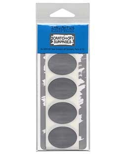 Oval Silver Scratch-off Stickers - SOS108
