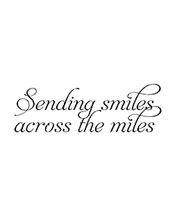 Sending Smiles Wood Mount Stamp E3-0283E