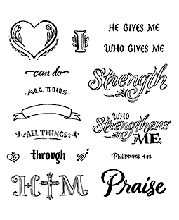 All Through Him Clear Stamp Set - 11340SC