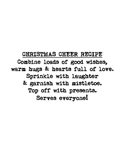 Christmas Cheer Recipe Wood Mount Stamp E2-7703E